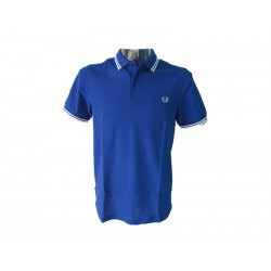 Polo Fred Perry Uomo tipped blu Regal