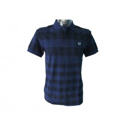 Polo Fred Perry Uomo Gingham Navy