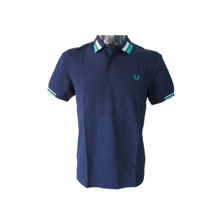 Polo Fred Perry Uomo Bold French Navy