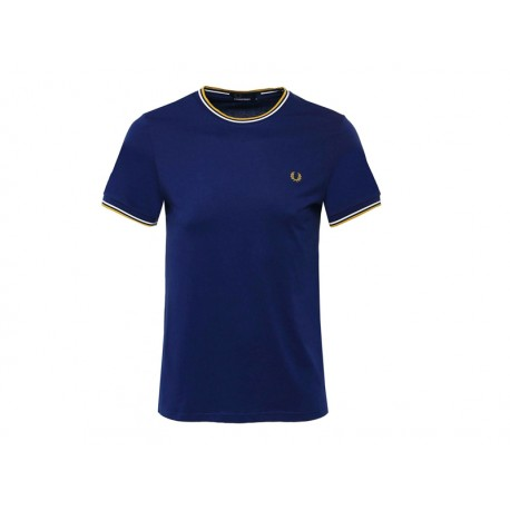 T-shirt Fred Perry Uomo Tipped Blu