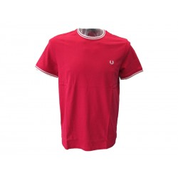 T-shirt Fred Perry Uomo Tipped Red