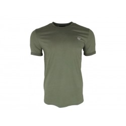 T-shirt Fred Perry Uomo Ringer Dusty olive