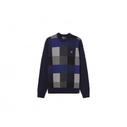 Maglione fred perry winter gingham girocollo 608