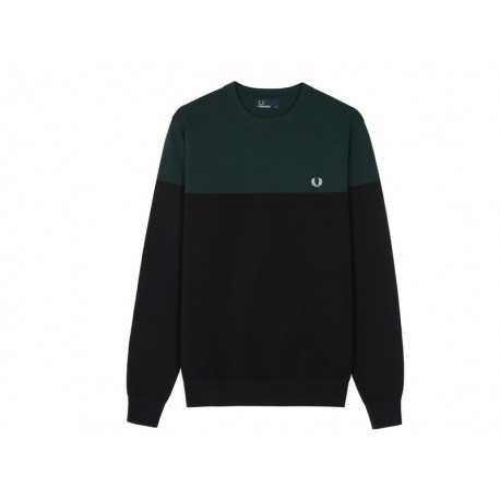 Maglione Fred Perry Girocollo a Inserti Be Color