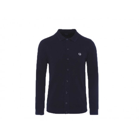 Cardigan uomo Fred Perry Tonal twin tipped 608 blu
