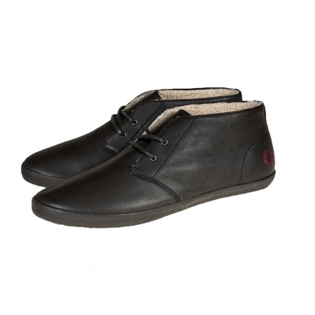 Scarpa uomo Fred Perry byron mid leather 102 nero