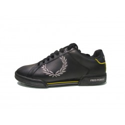 Scarpa uomo fred perry woodspring embroidered 185 nero