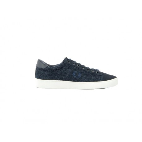 Scarpa uomo Fred Perry spencer tweed suede 608 blu navy