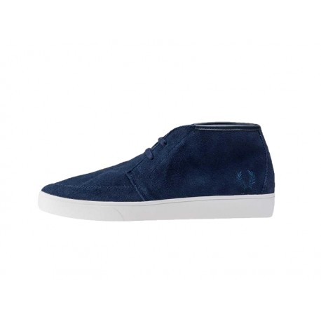 Scarpa uomo Fred Perry shields mid suede 266 blu navy