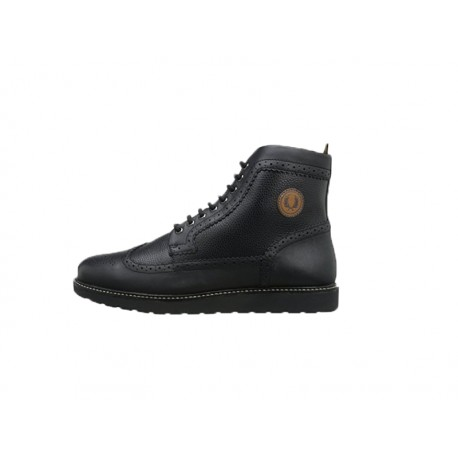 Scarpa uomo fred perry northgate leather 102 nere
