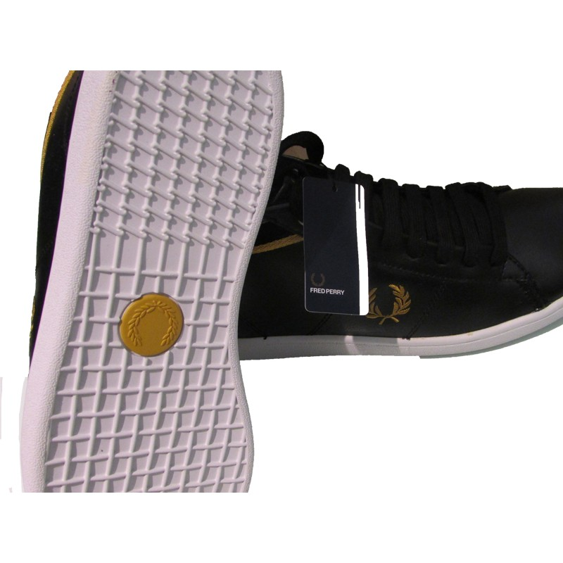 Scarpa uomo Fred Perry Cradook leather 102 nere Look&Look