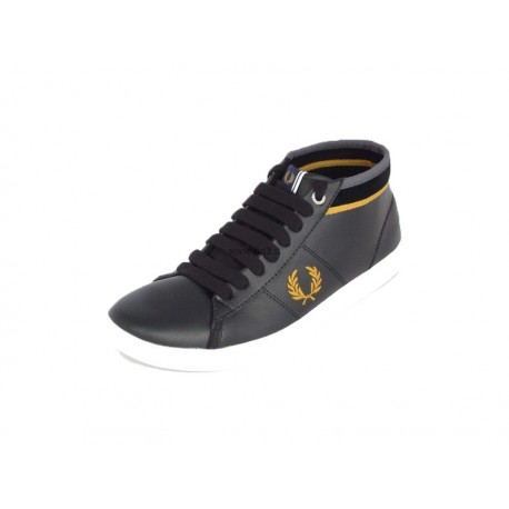 Scarpa uomo Fred Perry  Cradook leather 102 nere