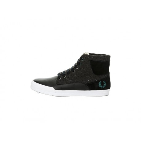 Scarpa uomo Fred Perry meynell leather/flecked wool 102