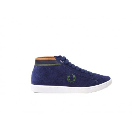 Scarpa uomo Fred Perry cradook leather 266 blu