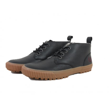 Scarpa uomo Fred Perry bramhall mid leather 102 nere
