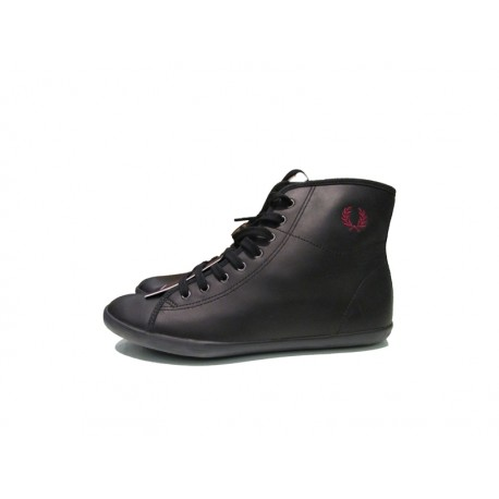 Scarpa donna Fred Pery phoneix mid leather 102 nero