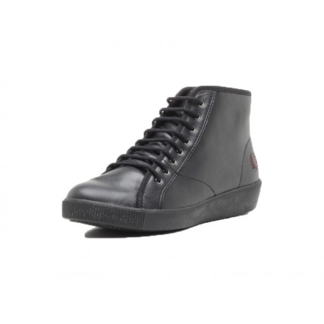 Scarpa donna Fred Perry warwick mid leather 102