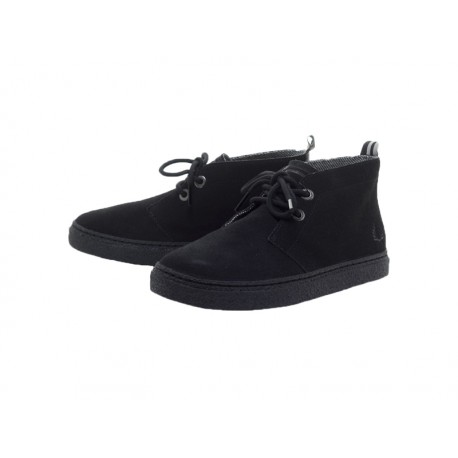 Scarpa donna Fred Perry henrietta mid suede 102 nere