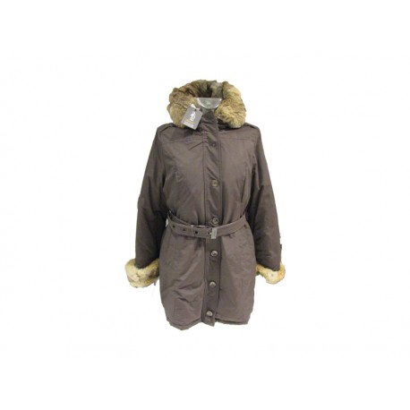 Cappotto parka donna Refrigue ushaia brown, marrone