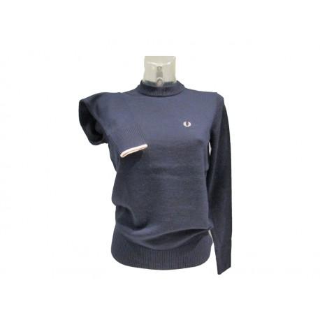 Maglione girocollo donna fred perry blu 618