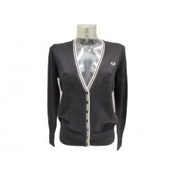 Cardigan donna fred perry nero 102