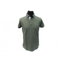 Polo Refrigue uomo ricamo collo slim-fit Green Military