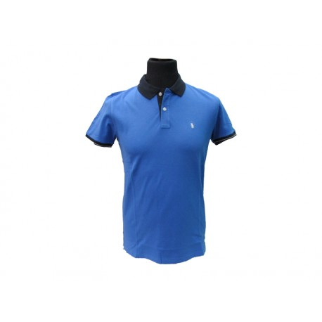Polo Refrigue uomo BeColor slim-fit Royal Blu