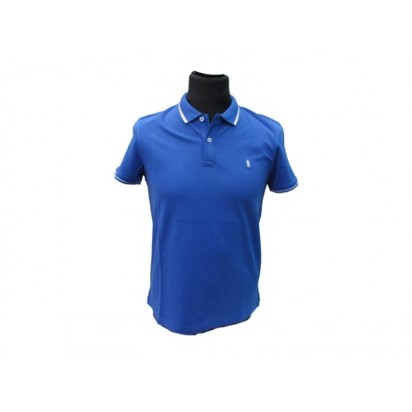 Polo Refrigue uomo Blu royal slim-fit