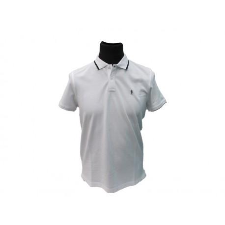 Polo Refrigue uomo white slim-fit