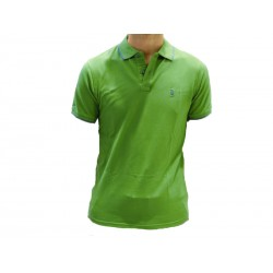 Polo Refrigue uomo emerald green slim-fit