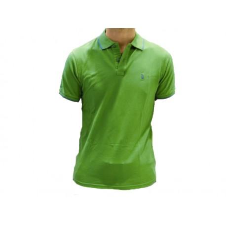 Polo Refrigue uomo emerald green slim-fit