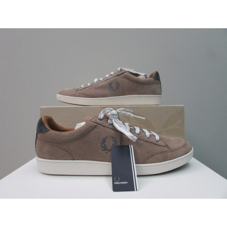 Scarpe uomo Fred Perry hopman basse suede sabbia