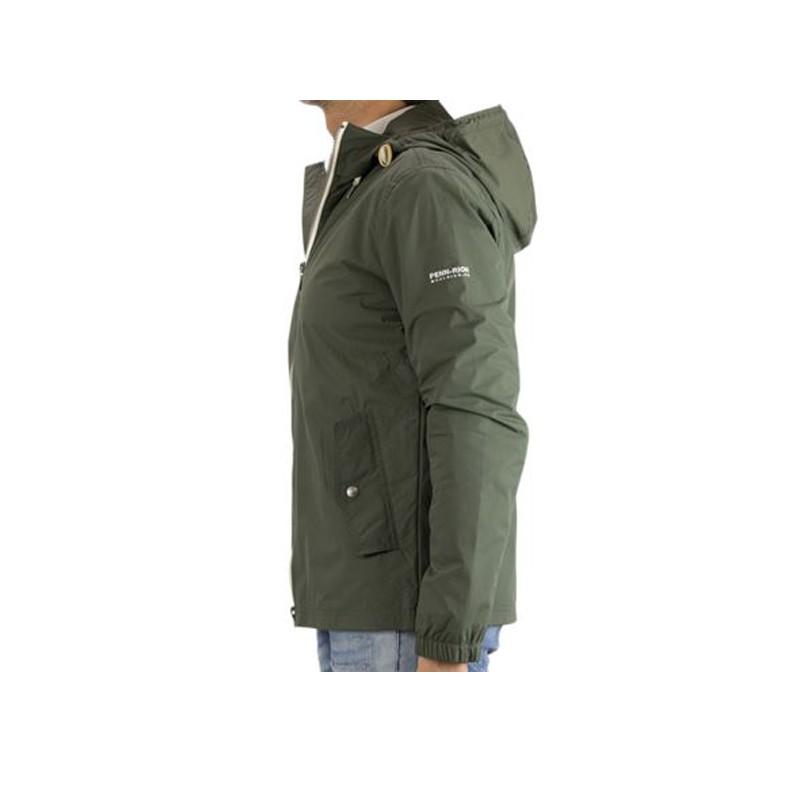 9741d07a1dc2 Giacca uomo Penn Rich woolrich Taslan Hoodie Verde Military - Look ...
