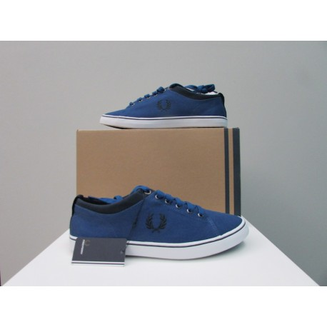 Scarpe uomo Fred Perry Hallam Twill Blu Royal