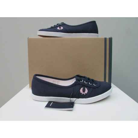 Scarpe donna Fred Perry Canvas Carbon Blu