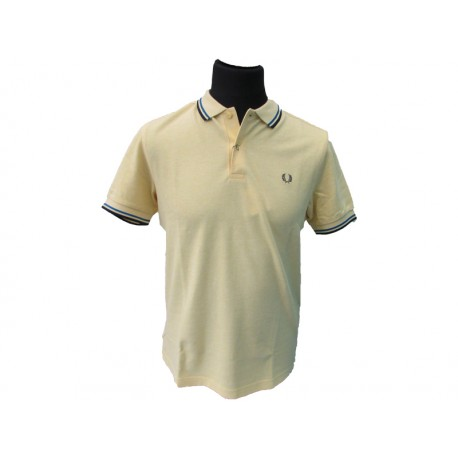 Polo Fred Perry Uomo Twin Slim Fit Yellow