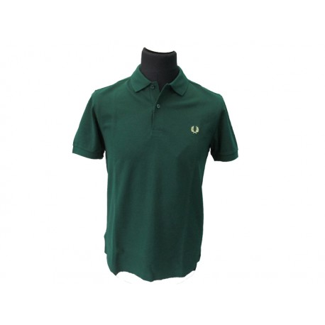 Polo Fred Perry Uomo Shirt Slim Fit Green