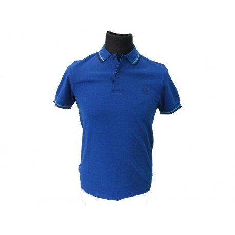 Polo Fred Perry Uomo twin Slim Fit Royal Blu