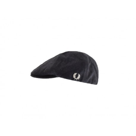 Cappello fred perry boiled wool flat cap  608 blu