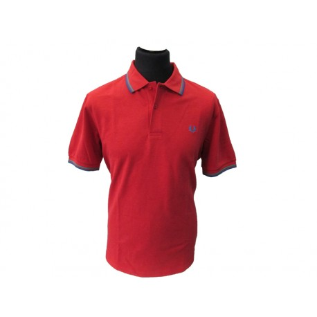 Polo Fred Perry Uomo twin Slim Fit Red