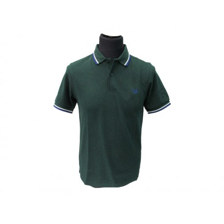 Polo Fred Perry Uomo twin Slim Fit Green
