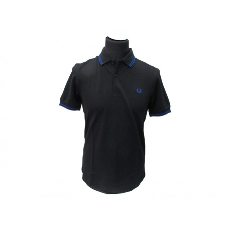 Polo Fred Perry Uomo Tipped Slim Fit nero