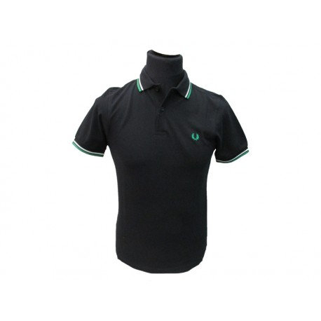 Polo Fred Perry Uomo Twin black