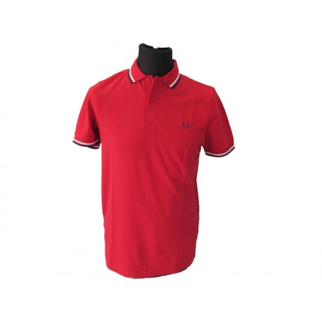 Polo Fred Perry Uomo Twin blood Red
