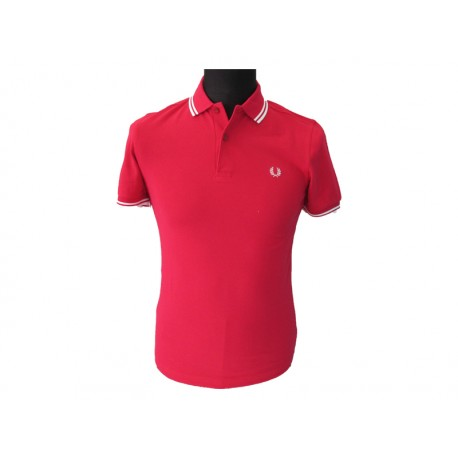 Polo Fred Perry Uomo Twin Terracotta
