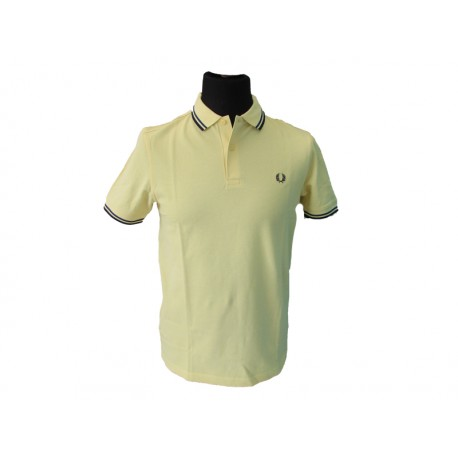 Polo Fred Perry Uomo Twin Chartreuse