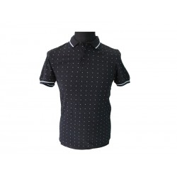 Polo Fred Perry Uomo Square Print Blu Navy