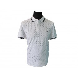 Polo Fred Perry Uomo Square Print White